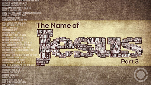 The Name of Jesus Part 3